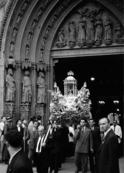 viatje de la mare de deu de la font a Valencia en 1954